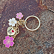 I Love Washington DC Cherry Blossoms Charm Key Chain Ring