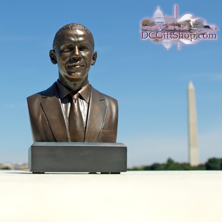 "Barack Obama 6"" Bronze Bust"