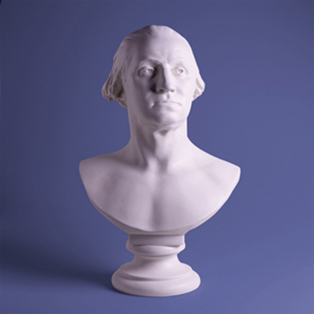 George Washington 23'' Houdon BUST - White