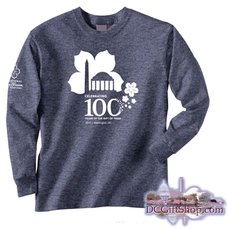 100th Anniversary Cherry Blossom Long Sleeve Shirt