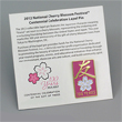 The 2012 National Cherry Blossom Festival Pin