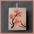 Cherry Blossom Candles Set of Four