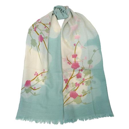 Yoshino Cherry Blossom Wool Scarf