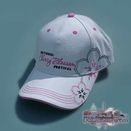 White Cherry Blossom Festival Hat