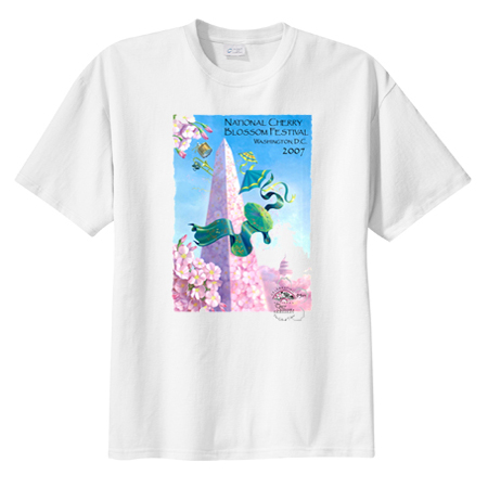 2007 Cherry Blossom Festival Official T-Shirt T-Shirt