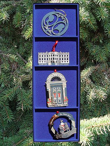 1985-1988 White House Set of Four Ornaments