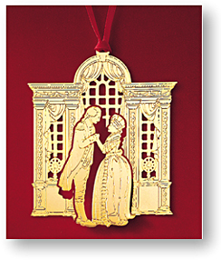 1989 Mount Vernon George and Martha Washington in Front Ornament