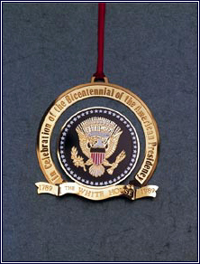 1989 White House Bicentennial Presidency Ornament