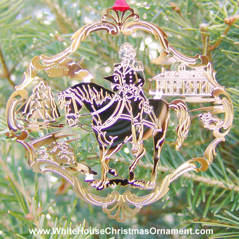 1992 Mount Vernon George Washington on Horseback Ornament