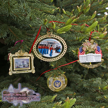 1994-1997 White House Set of Four Christmas Ornaments