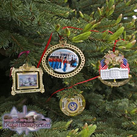 1994-1997 White House Set of Four Christmas Ornaments