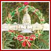 US Capitol Wreath Ornament