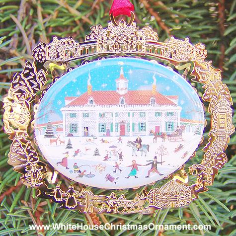 1997 Mount Vernon East Front Folk Art Ornament