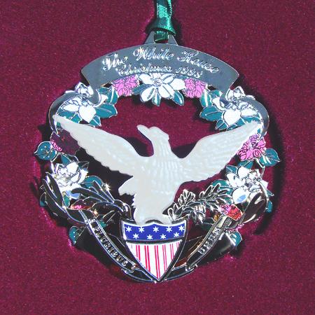 1998 White House James Buchanan Ornament