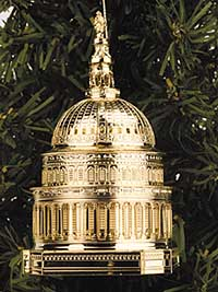 2000 Capitol Holiday Dome Ornament