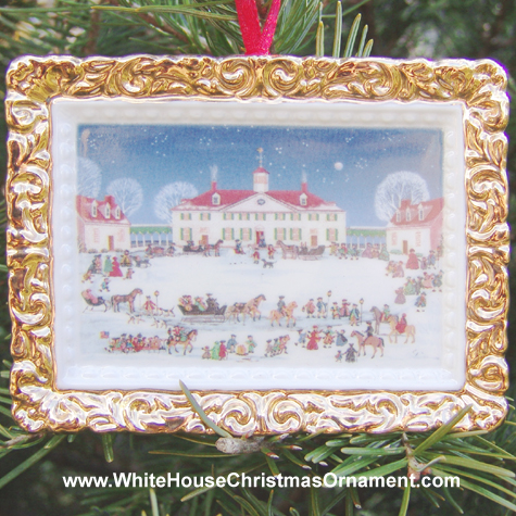 2000 A Joyful Group at Mount Vernon (West Front) Ornament
