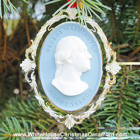 2000 Mount Vernon George Washington Houdon Bust Ornament
