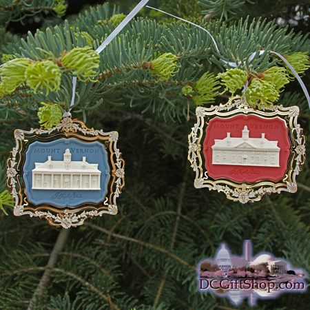 2001 Collectible Mount Vernon Set of 2 Ornaments