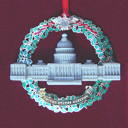 2003 Capitol Marble and Wreath Ornament