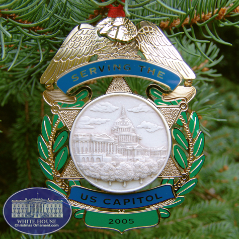 2005 Capitol Police Force Holiday Ornament