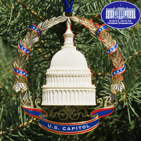 2007 US Capitol Marble Dome and Wreath Ornament