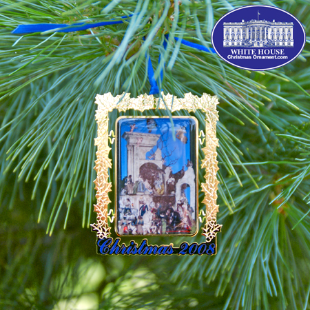 2008 Secret Service Ornament - White House Creche