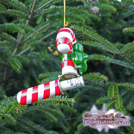 Candy Cane Gift Box Ornament
