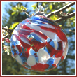 Patriotic Crystal Glass Patriot Ball