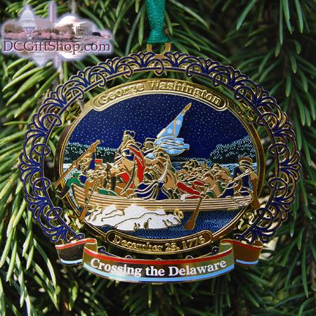 George Washington Crossing the Delaware River Ornament