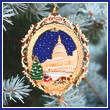 2011 U.S. Capitol Holiday Tree & Carriage Ornament