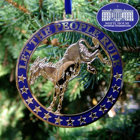 Democratic Party Ornament
