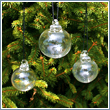 Set of 3 Clear Undecorated Glass Balls