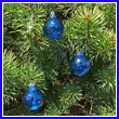 Set of 3 Cobalt Blue Glass Balls