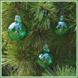 Set of 3 Emerald Green Glass Balls