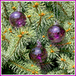 Set of 3 Purple Haze Glass Balls