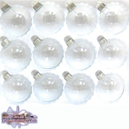 Clear Glass Ornament Set Of 60 Ornaments