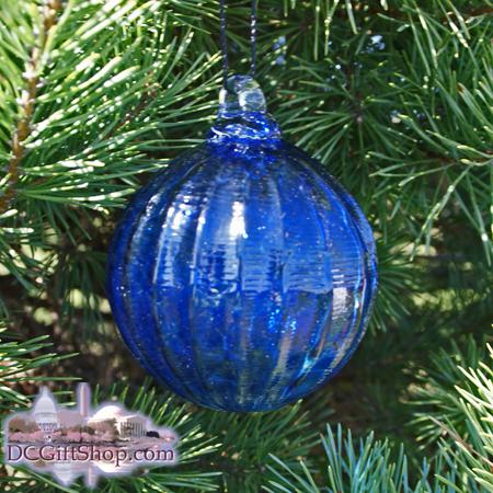 """Cobalt Blue Glass Optic Ball 3"""""""