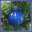 Cobalt Blue Glass Optic Ball 3""