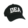 DEA Black Structured Cap