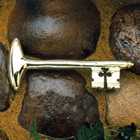 Bastille Key Paperweight, Solid Brass
