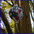 Patriotic Glass Hummingbird Feeder