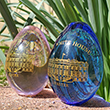 White House Glass Easter Egg Set