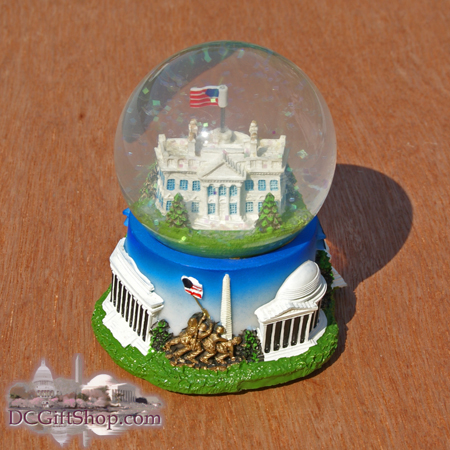 The White House Musical Snow Globe