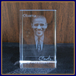 Barack Obama 3D Holographic Glass Paperweight
