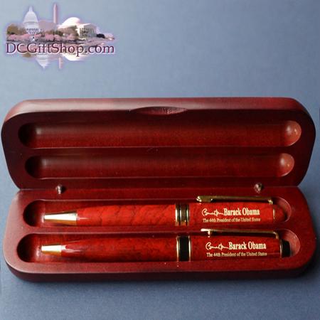 Commemorative Obama Wooden Pen Set