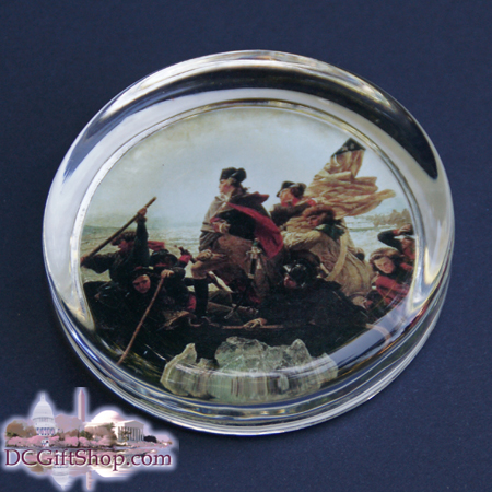 George Washington Crossing the Delaware River Paperweight