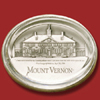 Mount Vernon Glass / Pewter Paperweight