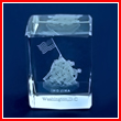 Marine Corps War Memorial Glass Paperweight