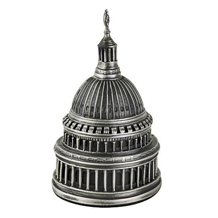 US Capitol Dome Pewter Paperweight