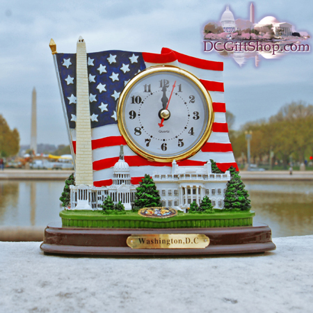 Washington DC Monuments Clock